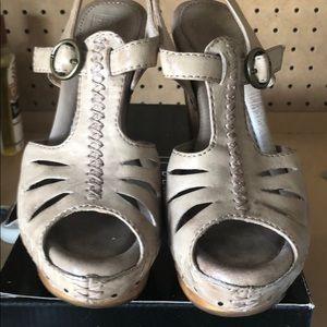 "FRYE grey heels. 6"" high. Size 6. EUC WORN ONCE"